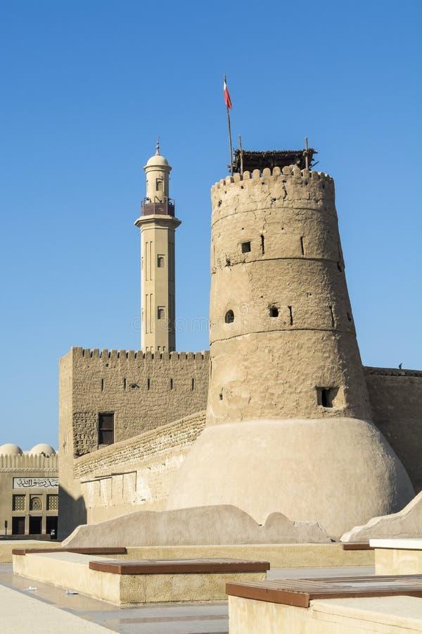 Al Fahidi fortu Dubaj muzeum obrazy stock