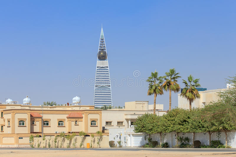 Al Faisaliah塔在利雅得 库存照片