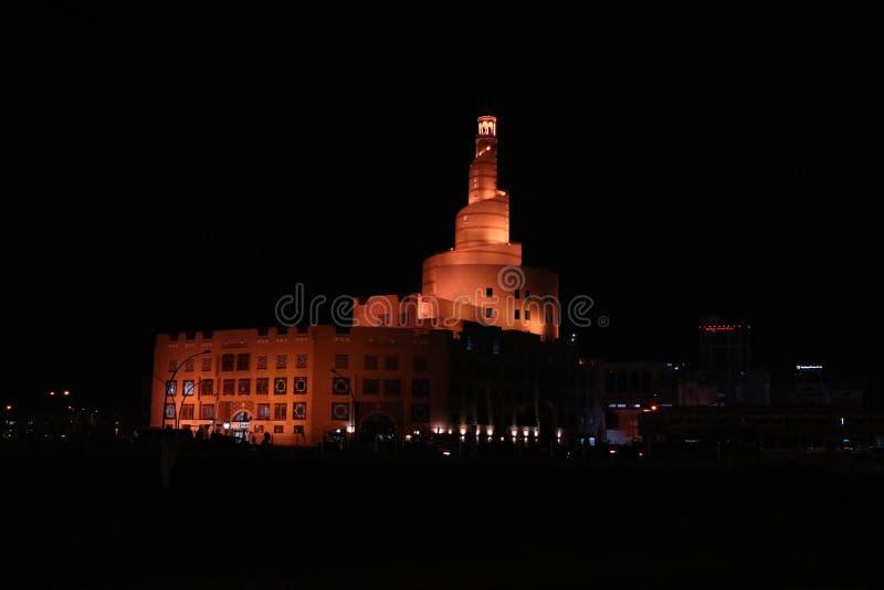 Al Fanar清真寺,多哈,卡塔尔 库存照片