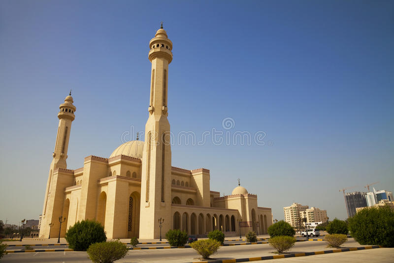 Al-Fateh Grand Mosque, Manama, Bahrain Stock Photography