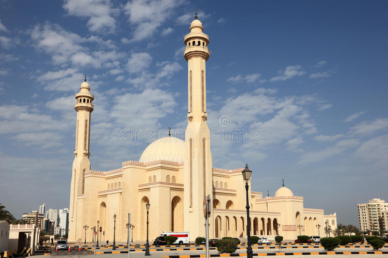 Al Fateh Grand Mosque in Manama, Bahrain stockbilder