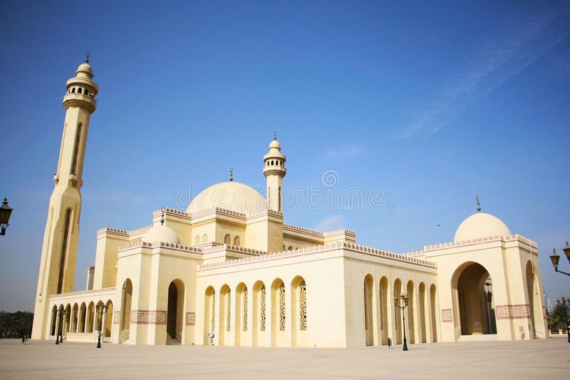 Al Fateh Grand Mosque in Manama, Bahrain stockfotografie