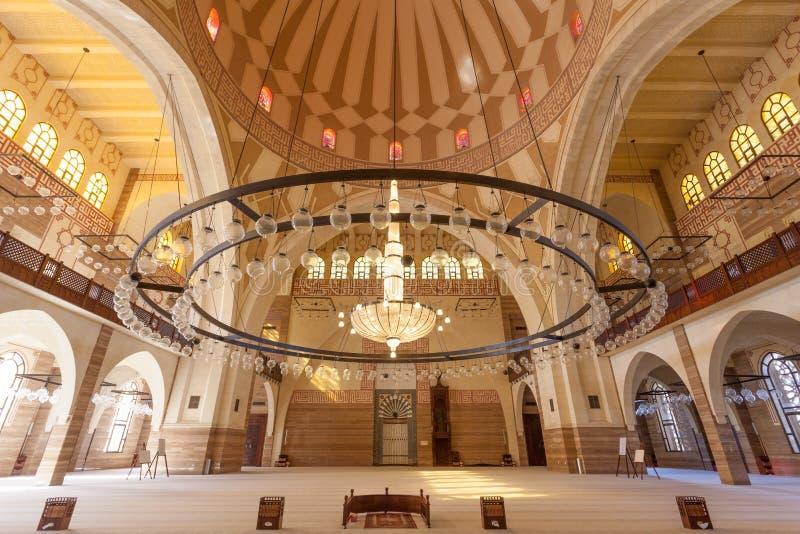Al Fateh Grand Mosque in Manama, Bahrain. Interior of the Al Fateh Grand Mosque in the city of Manama, Kingdom of Bahrain, Middle East stock images