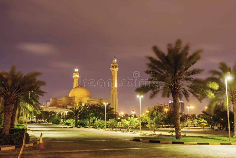 Al Fateh Grand Mosque in Manama stock afbeelding