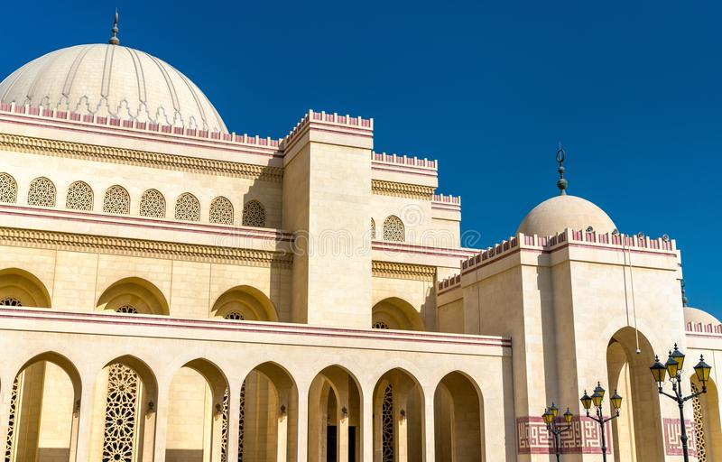 Al Fateh Grand Mosque in Manama, the capital of Bahrain. One of the largest mosques in the world royalty free stock photo
