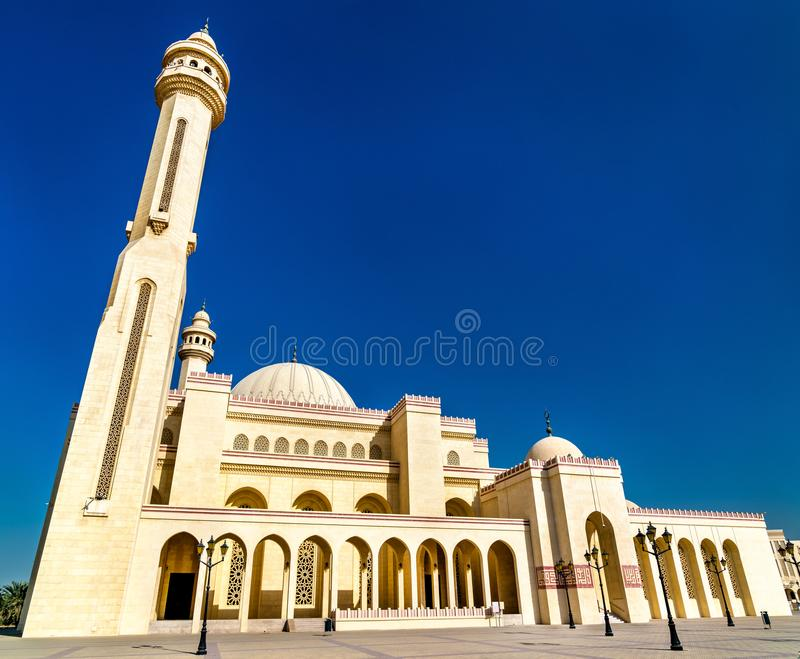 Al Fateh Grand Mosque in Manama, the capital of Bahrain. One of the largest mosques in the world stock photos