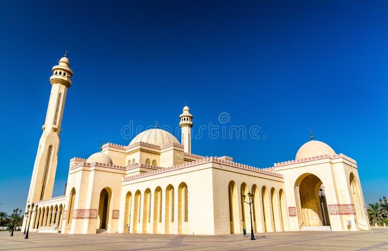 Al Fateh Grand Mosque in Manama, de hoofdstad van Bahrein stock fotografie