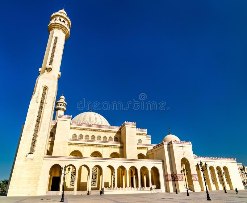 Al Fateh Grand Mosque in Manama, de hoofdstad van Bahrein stock foto's