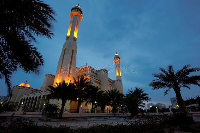 Al-Fateh großartige Moschee, Bahrain lizenzfreie stockbilder