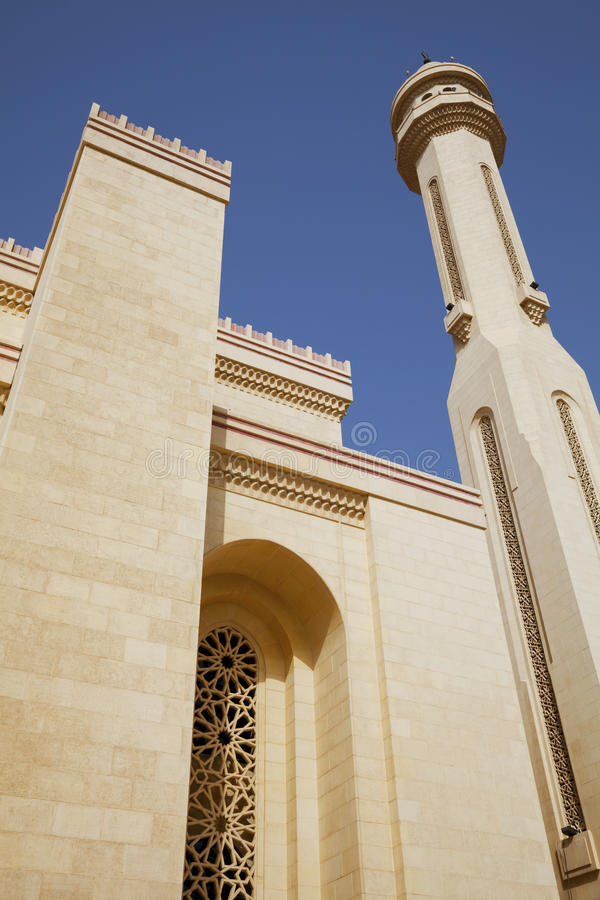 Al-Fateh Grote Moskee, Manama, Bahrein stock foto