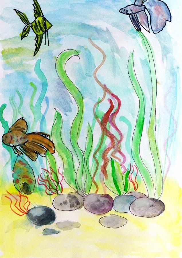 Al fondo del mare. illustrazione vettoriale