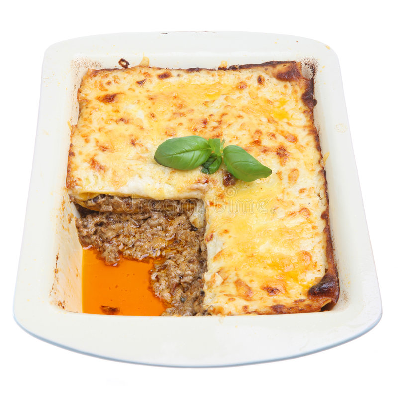 Al Forno van de lasagna stock foto