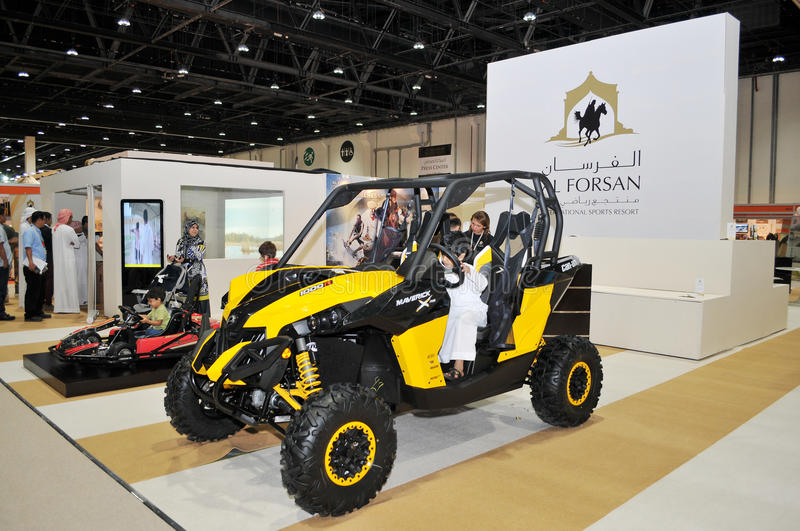 Download Al Forsan Desert Vehicles At Abu Dhabi International Hunting And Equestrian Exhibition (ADIHEX) Editorial Stock Image - Image: 33505619