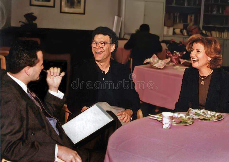 Al Franken et Arianna Huffington images libres de droits