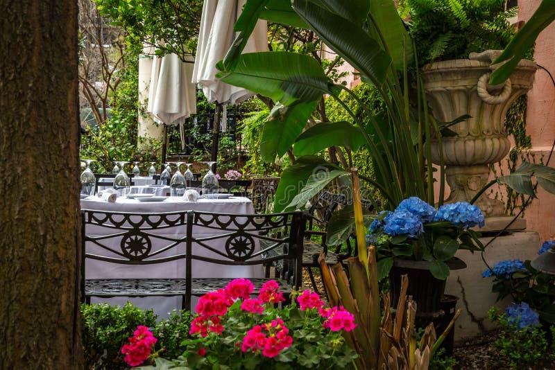 Al Fresco Dining Savannah foto de archivo