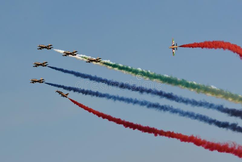 Al Fursan/Aermacchi MB-339NAT image stock