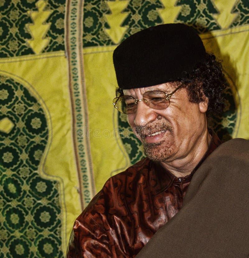 Al Gaddafi di Muammar fotografia stock libera da diritti