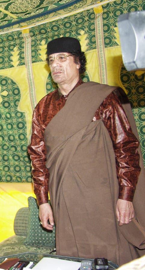 Al Gaddafi di Muammar fotografia stock