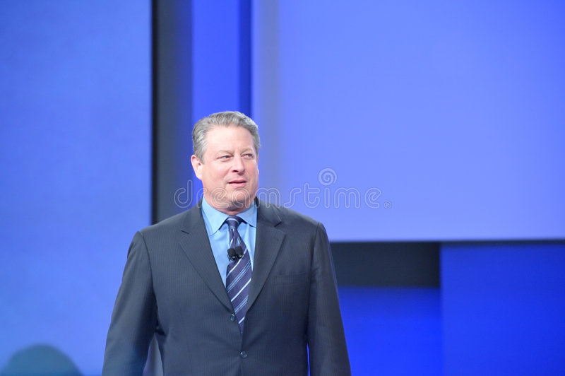 Al Gore à la conférence de la RSA photo libre de droits