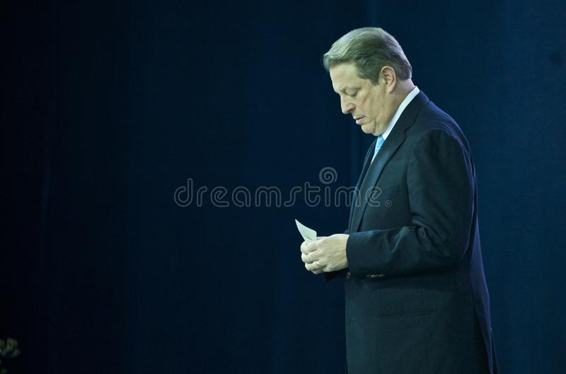 Al Gore Before a Speech on Climate Change royalty free stock photos