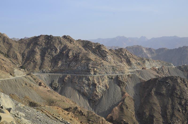 Al Hada góra, Al Hada-Taif droga, Arabia Saudyjska obraz stock