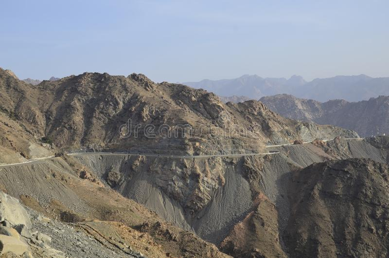 Al Hada Mountain, Al Hada-Taif Road, la Arabia Saudita imagen de archivo