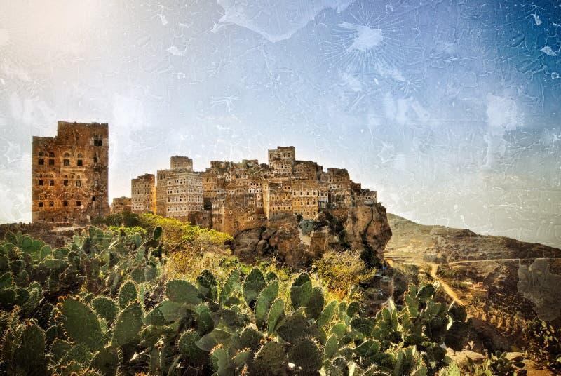 Al Hajarah, der Jemen lizenzfreie stockfotografie