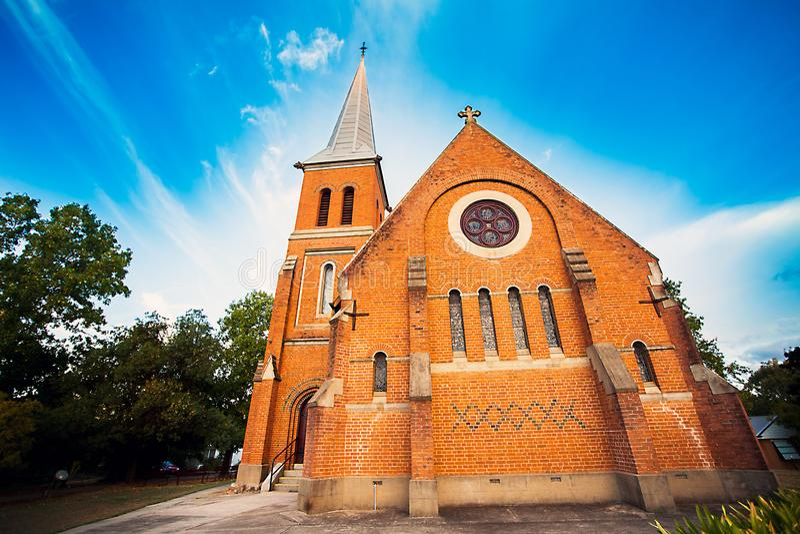 Al Heiligen Anglicaanse Kerk Tumut Australië stock afbeelding