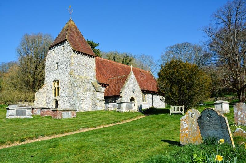 Al Heiligenkerk, het Westen Dean, East Sussex het UK royalty-vrije stock foto