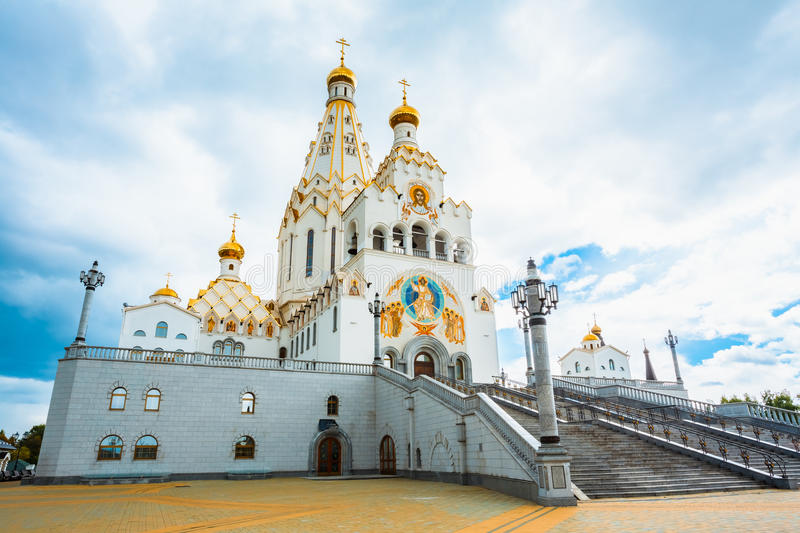 Al Heiligenkerk in Minsk, Republiek Wit-Rusland stock fotografie