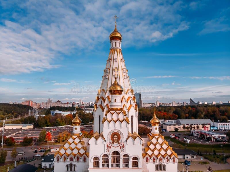 Al heiligenkerk in Minsk, Witrussisch geheugen van slachtoffers stock foto's