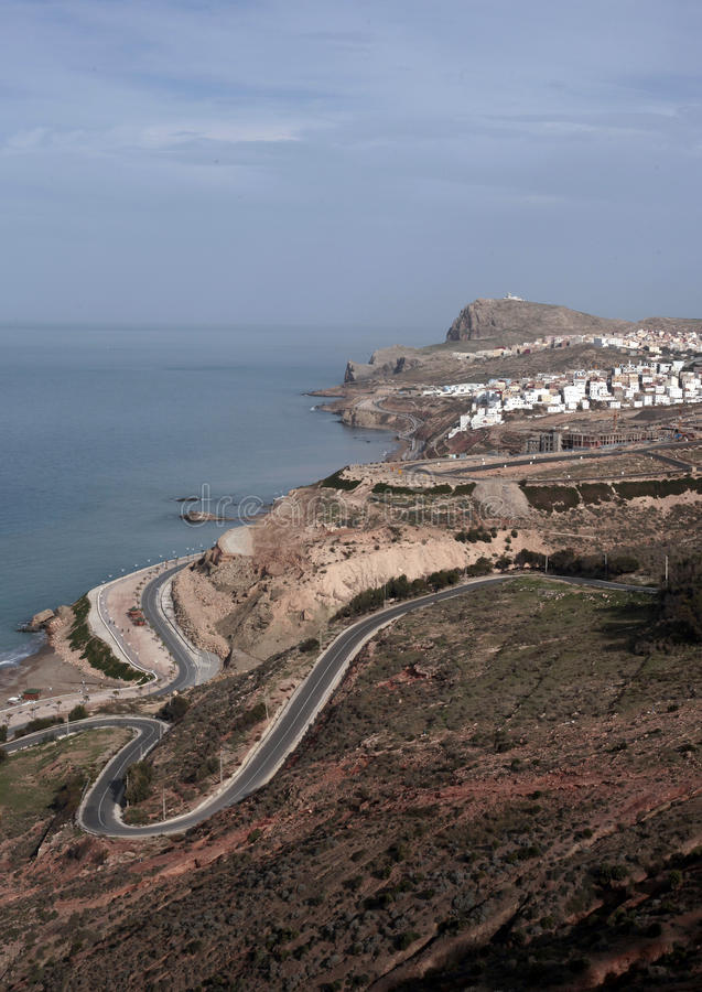 Al Hoceima, Marokko stockbilder