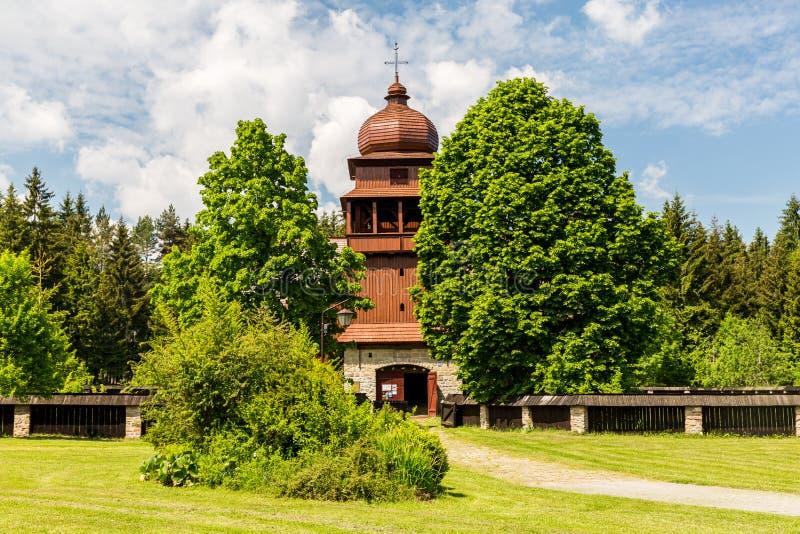 Al houten kerk Svaty Kriz in Slowakije stock fotografie