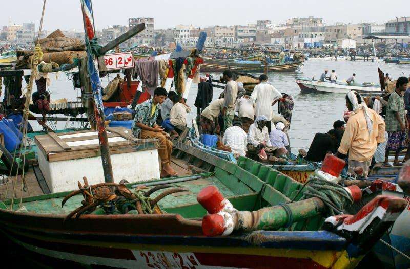 Στο λιμάνι του Al hodeidah στοκ εικόνα με δικαίωμα ελεύθερης χρήσης