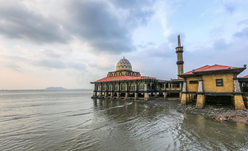 Al Hussain Mosque Malaysia stock photography