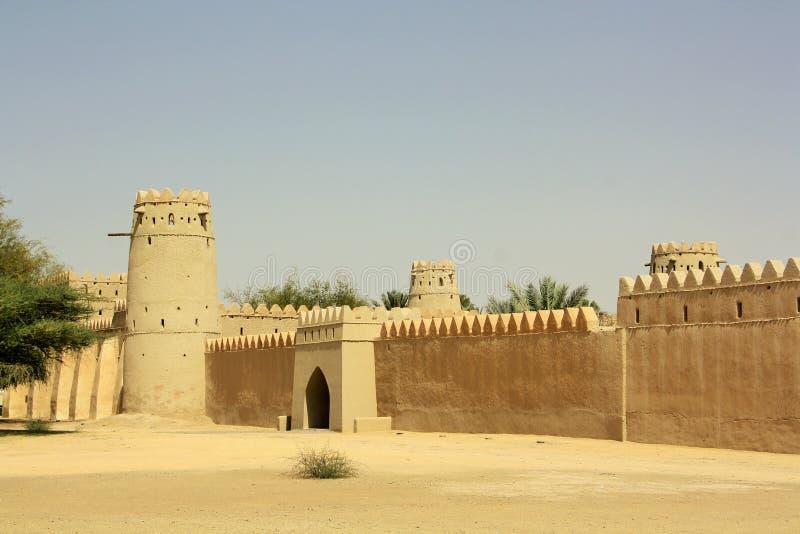 Al Jahili堡垒在艾因,阿联酋 库存图片