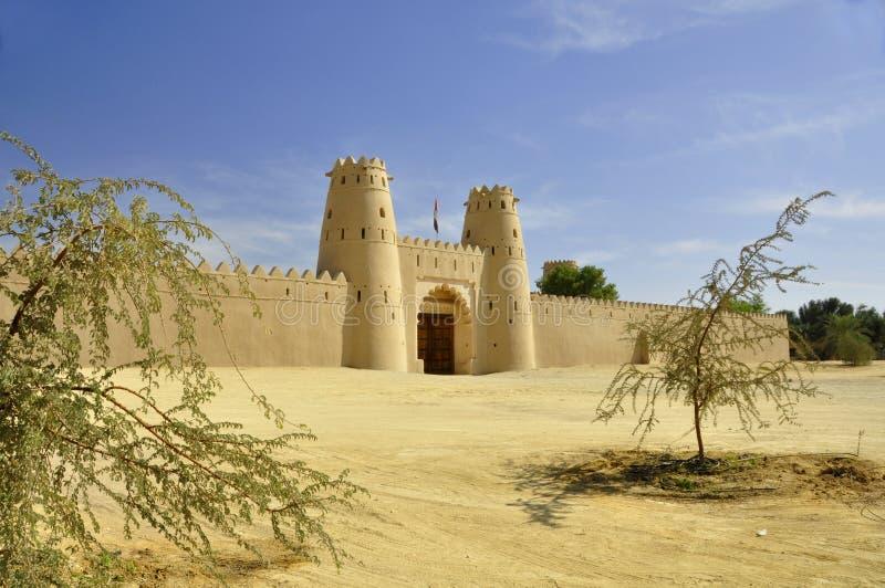 Al Jahili堡垒,艾因 免版税库存图片