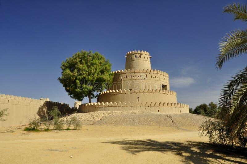 Al Jahili堡垒,艾因 免版税库存照片