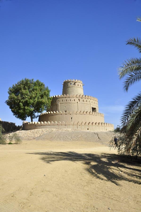 Al Jahili堡垒, Al Ain 免版税库存照片