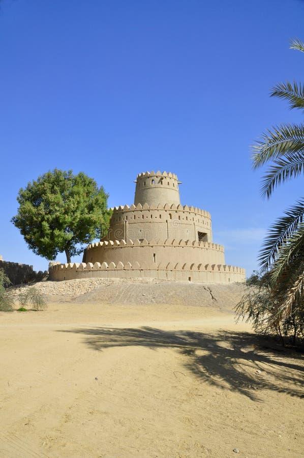 Al Jahili堡垒, Al Ain 免版税库存图片