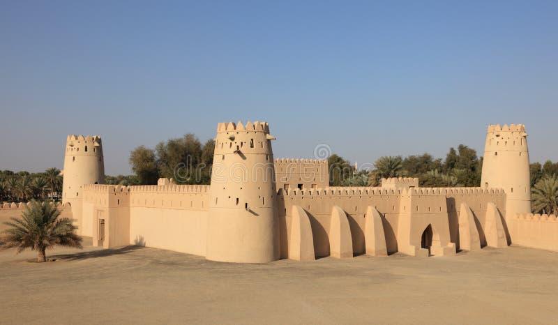 Al Jahili Fort in Al Ain, Abu Dhabi stock foto
