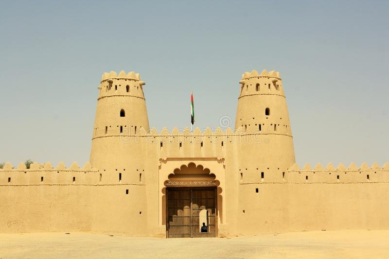 Al Jahili fort in Al Ain, United Arab Emirates. Located in the Abu Dhabi emirate; it is is one of the UAE's most historic buildings. It was erected in stock photography