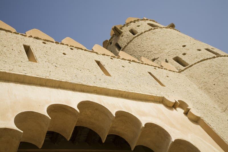 Al Jahli堡垒细节  免版税库存照片