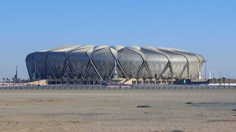 Al Jawhara stadion futbolowy na słonecznym dniu w Jeddah, Saudyjskim obraz stock