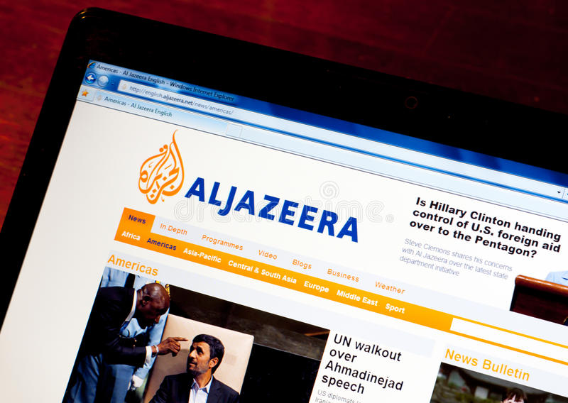 Download Al Jazeera English editorial stock photo. Image of information - 16193663