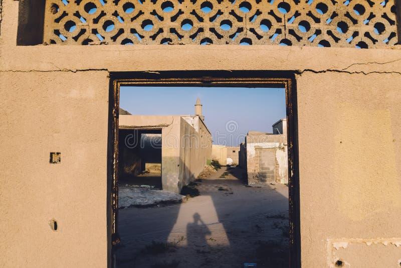 Al Jazirah Al Hamra Ghost Town in UAE stockfoto