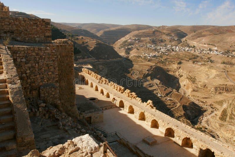 Al-Karak castle. In the Jordan royalty free stock photos