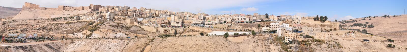 Al Karak/Kerak烈士城堡,约旦 库存图片