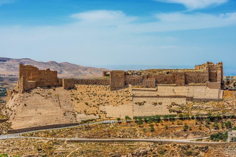 Al Karak kerak crusader castle fortress Jordan. Middle east royalty free stock images