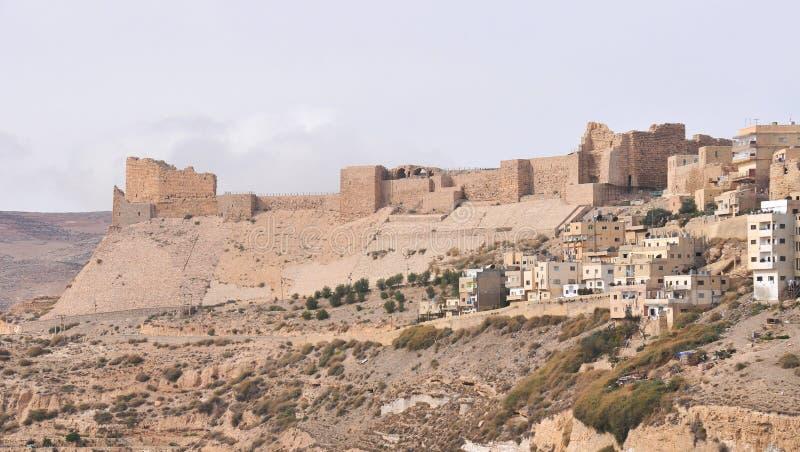 Al Karak /Kerak korsfarareslott, Jordanien arkivfoton
